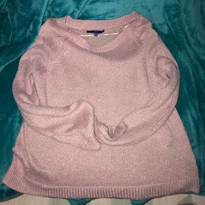 Pink Sweater with subtle glitter